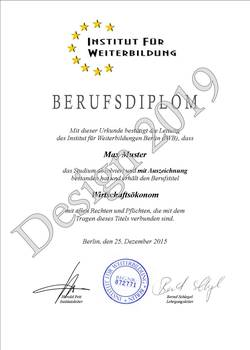 Diplom, Diplome, Berufszertifikat, Berufsdiplom, Urkunde, Zertifikat, Geschenke, Geschenkideen