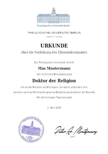 Doktortitel, Ehrendoktortitel, Professortitel, Diplom