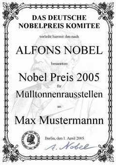 Nobelpreis, Geschenke, Geschenkideen